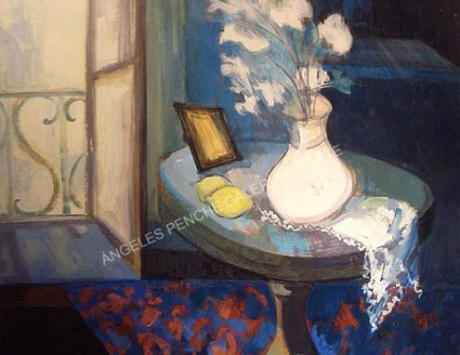 Interior azul