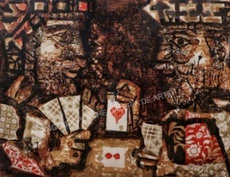 Reyes jugando a las cartas