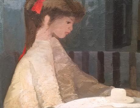La niña del lazo rojo