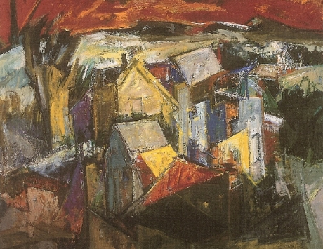 Paisaje deconstruido (Seleccionado IX premio de pintura BMW año 1996)