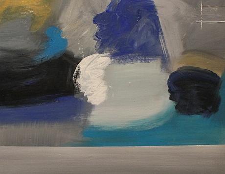 Azul en gris