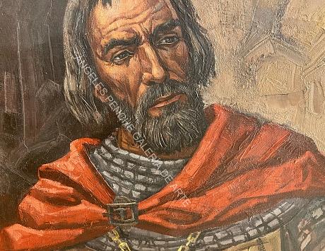 Estudio para el Mural de Fernán González (Arco de Santa María, Burgos)