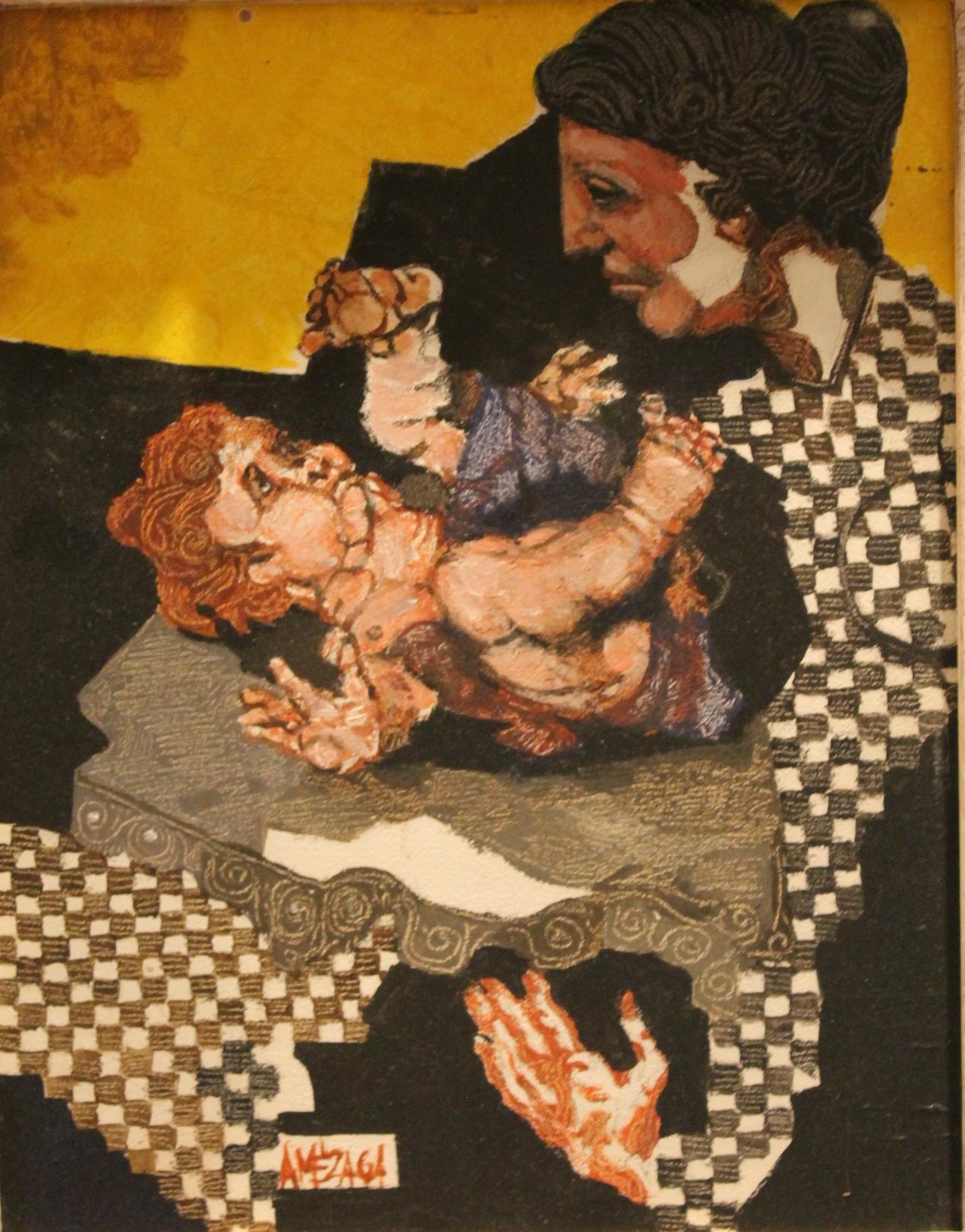 Maternidad con fondos amarillos